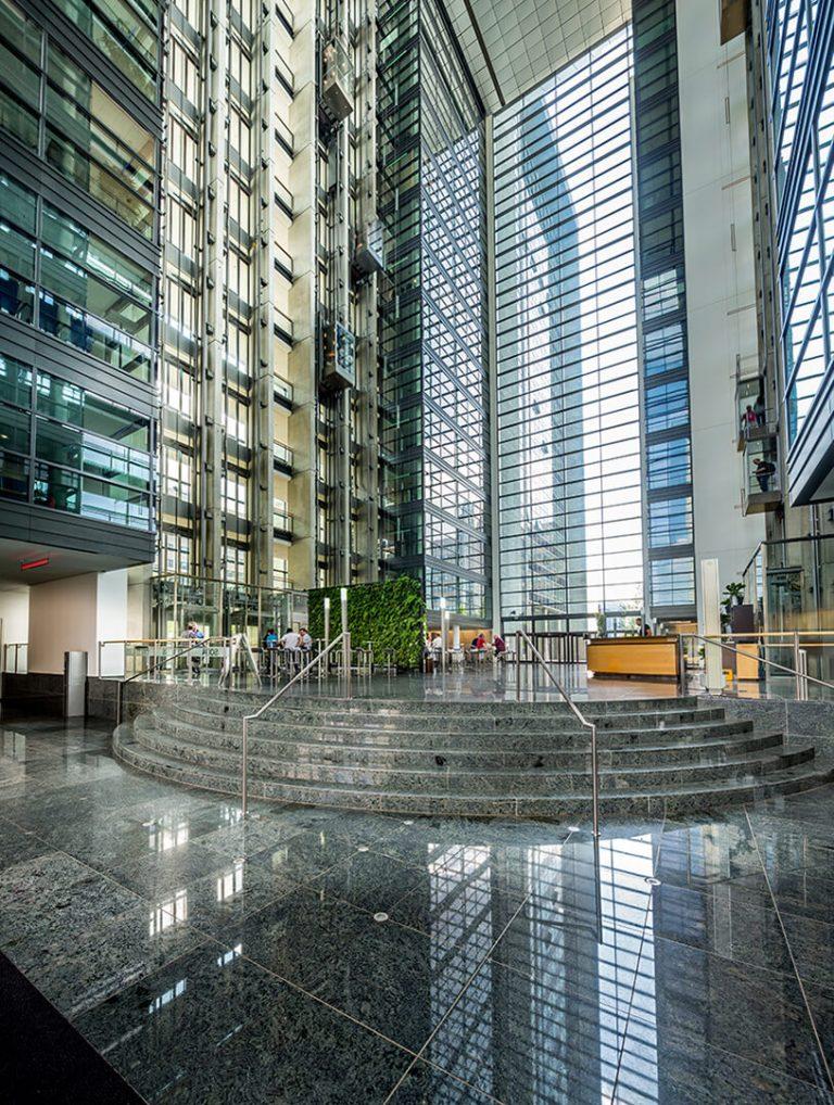 Bürogebäude Herriot´s Frankfurt - Atrium