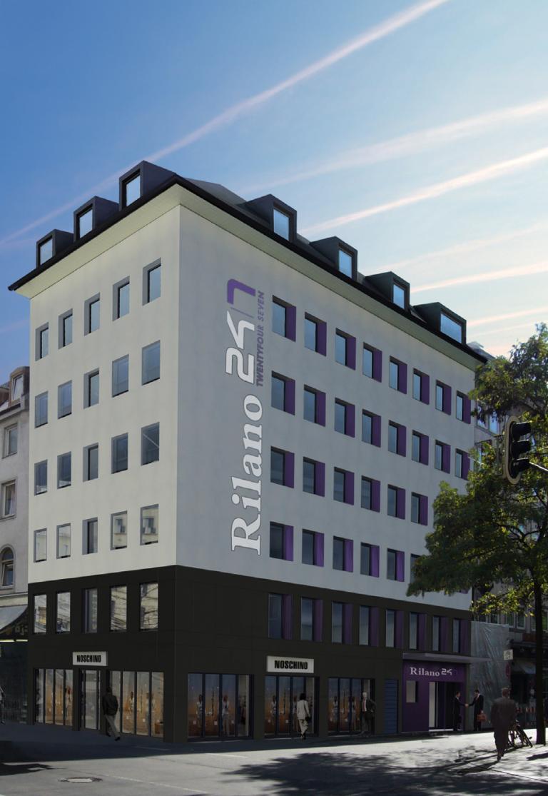 Hotel Rilano München - Straßenansicht