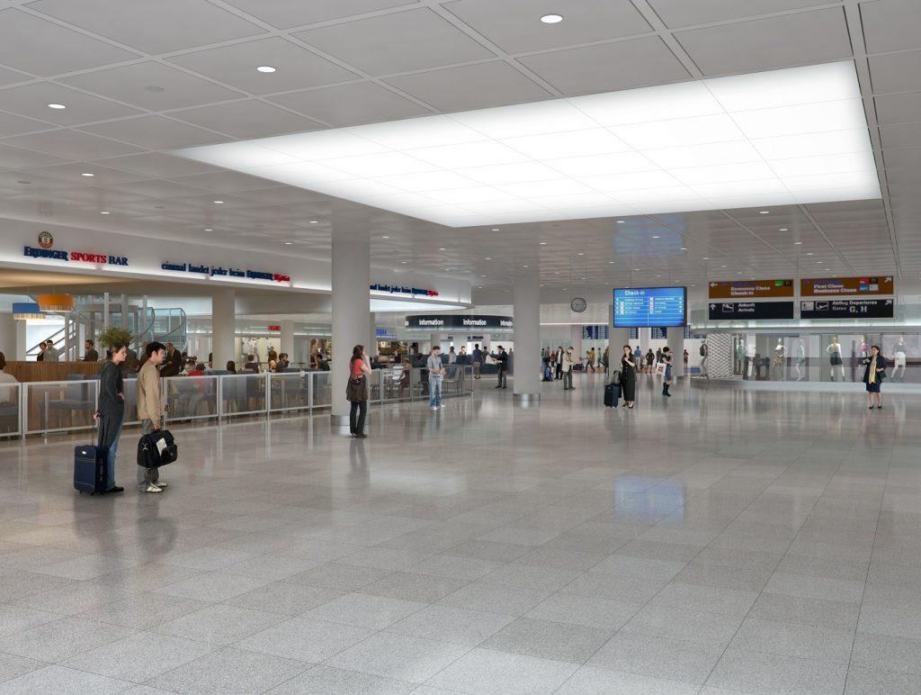 Flughafen München - Ankommerbereich Innen