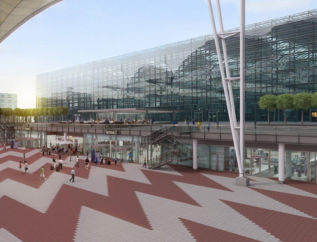 Flughafen München - Ankommerbereich Außen