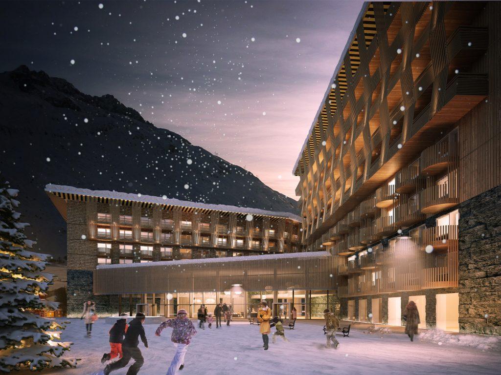 Radisson Blu Hotel Andermatt - Visualisierung Nacht