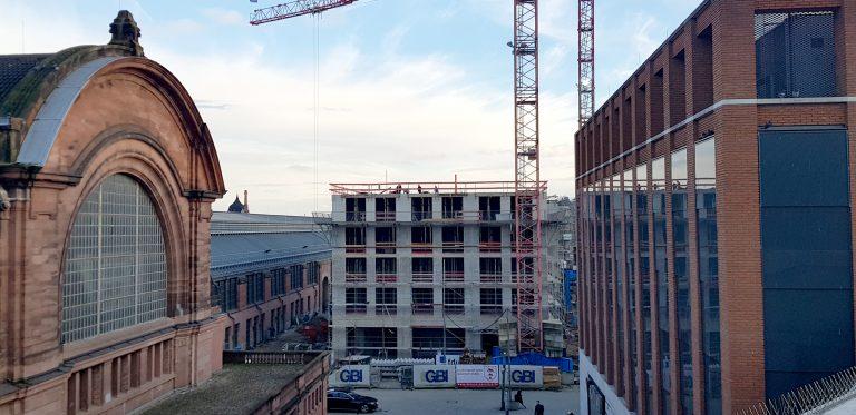 Intercity Hotel Wiesbaden - Bauphase