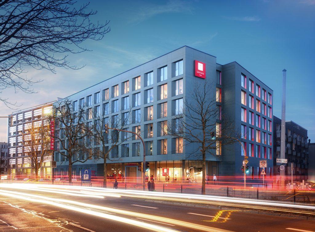 Leonardo Hotel Dortmund - Render Straßenansicht Nacht